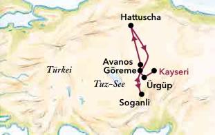 Karte Türkei Kappadokien.Kappadokien Das Land Der Feenkamine