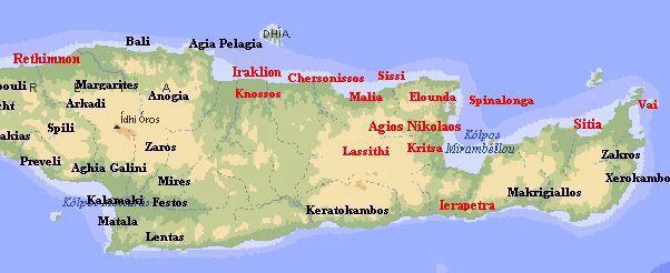 Kreta Karte Mit Sehenswürdigkeiten.Kreta Entdeckungen Im Osten