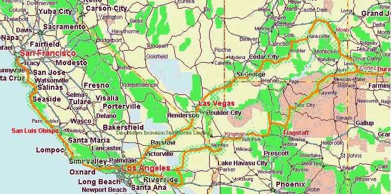 Karte Usa Westen.Usa Der Westen
